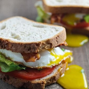 Need a quick and easy meal? This low fodmap BLT with egg is your ticket! Delicious and gluten free, this sandwich is one of my go-to's, breakfast, lunch or dinner!