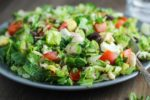 Light and easy this low fodmap cobb salad is one of my FAVORITE recipes! And, the homemade red wine vinaigrette pairs perfectly with all the fresh flavors in this gluten free lunch!