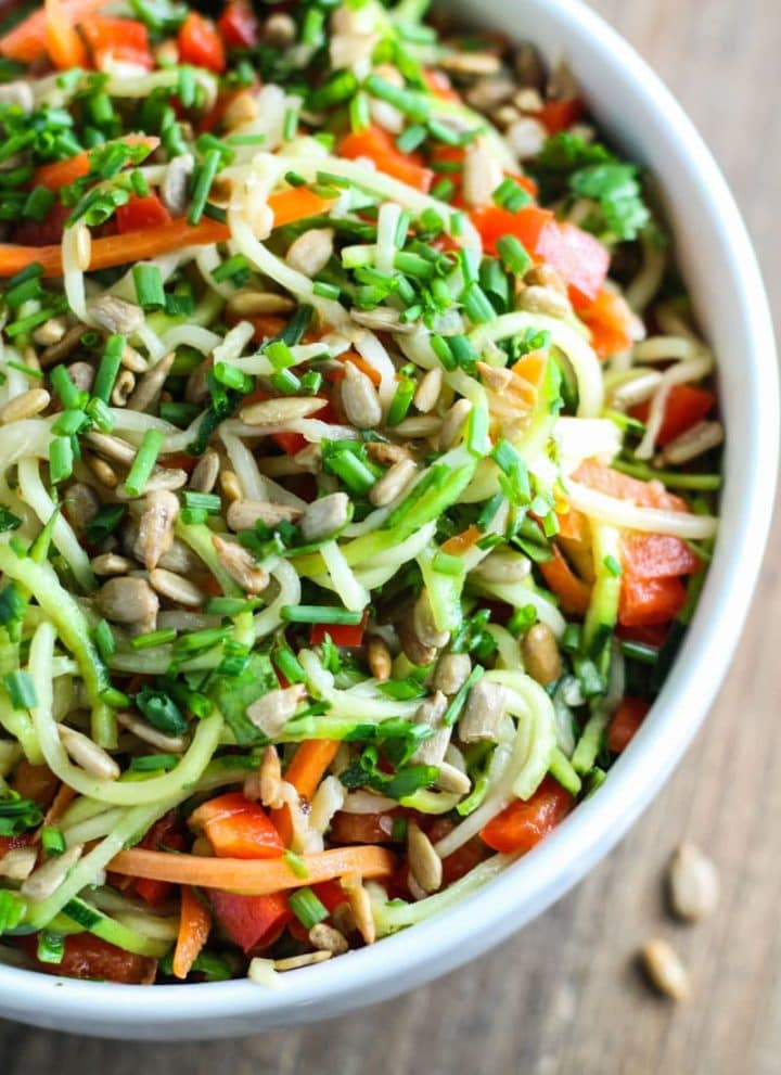 Low FODMAP Asian Zoodle Salad