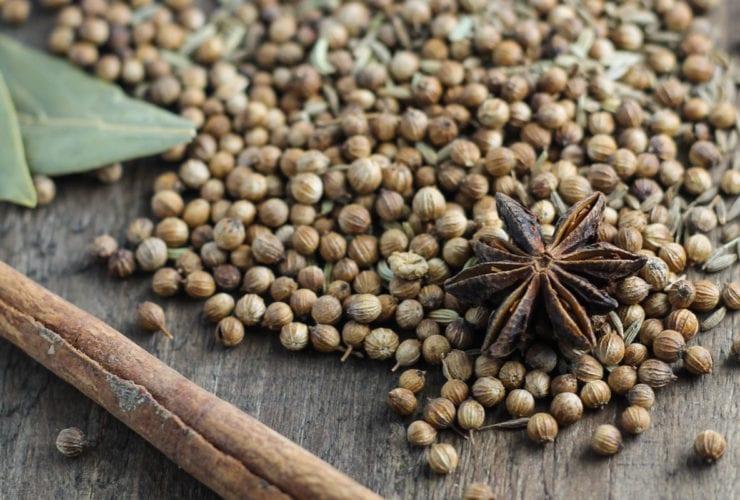 Whole spices in biryani seasoning