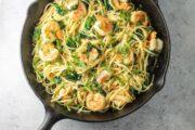 Low FODMAP Spicy Lemon Pasta with Shrimp