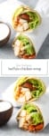 Two photos of low FODMAP buffalo chicken wraps