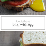 Two photos of low FODMAP BLT sandwiches