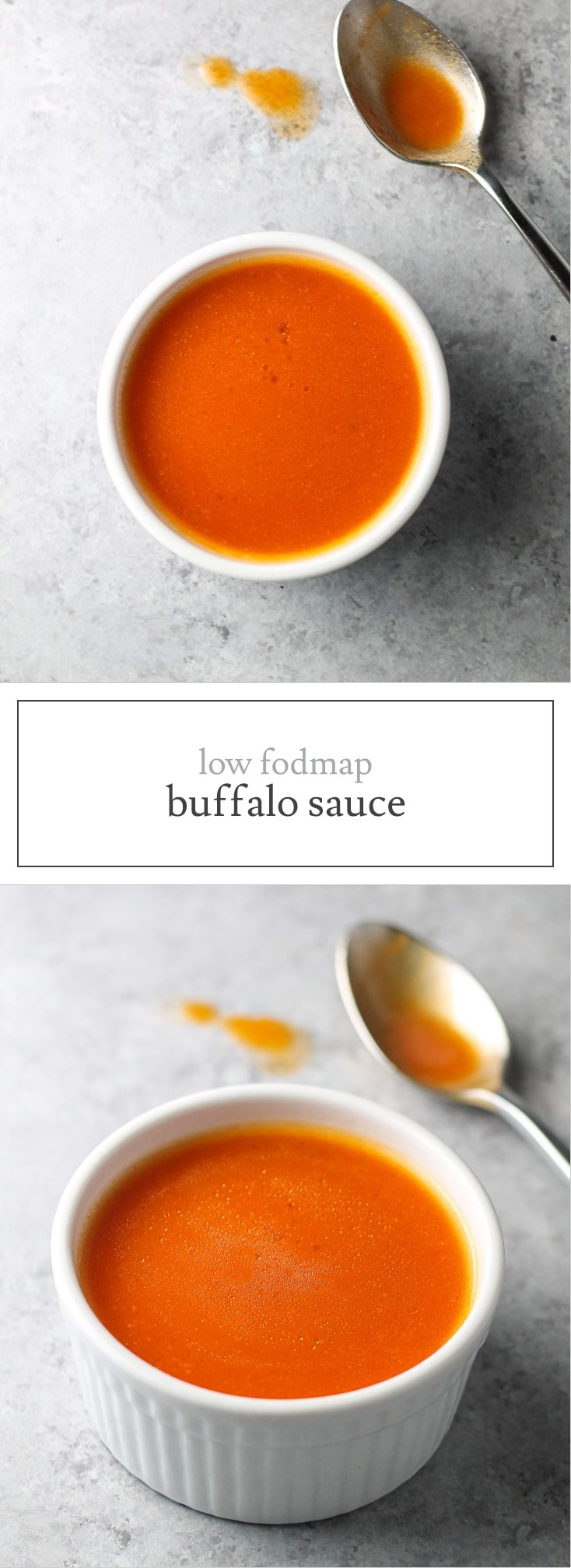 With just three simple ingredients, this Low FODMAP Buffalo Sauce recipe is easy, easy, easy! A great way to add gluten-free flavor to salads, wraps and more!