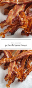 Two photos of perfectly baked bacon