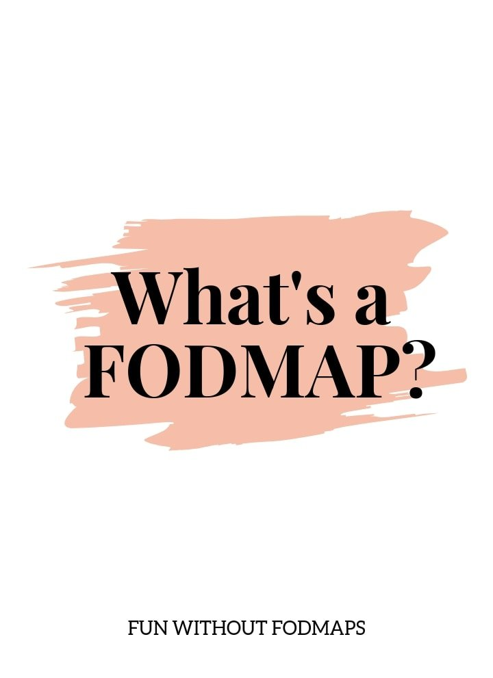 A white image with a scribbled light pink rectangle in the center. On top of the rectangle black text reads What is a FODMAP?