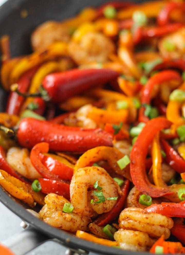 Low FODMAP Shrimp Fajitas