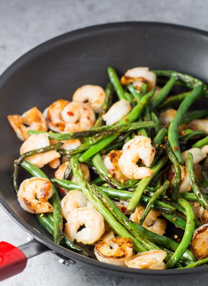 Low Fodmap Shrimp and Green Bean Stir Fry