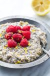 Low FODMAP Lemon Raspberry Overnight Oats