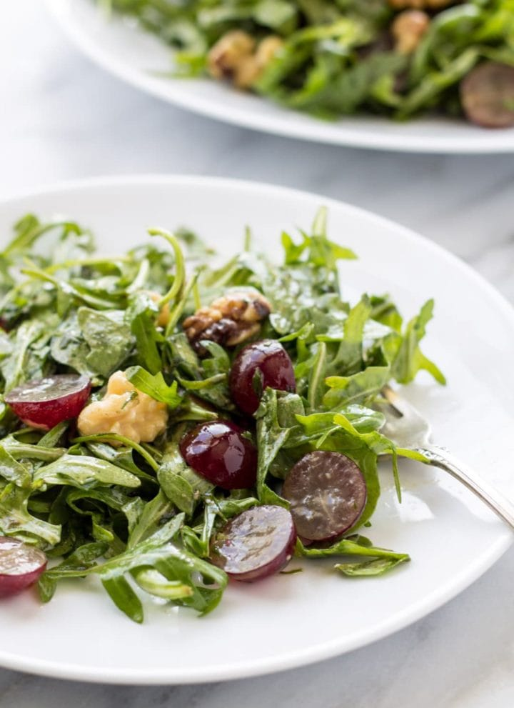 Low FODMAP Arugula and Grape Salad