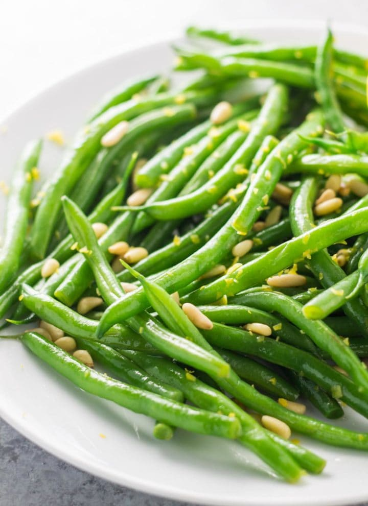 Low FODMAP Lemon Green Beans with Pine Nuts