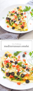 Two images of Low FODMAP Mediterranean Omelet