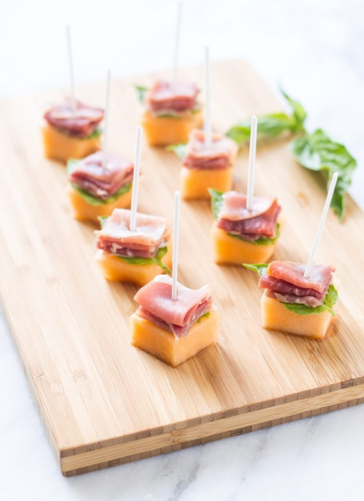Low FODMAP Prosciutto Melon Bites