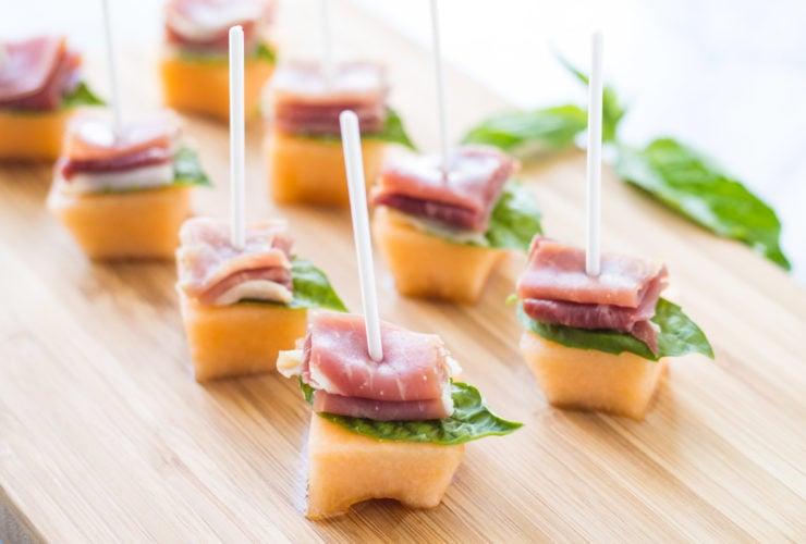 Low FODMAP Prosciutto Melon Bites