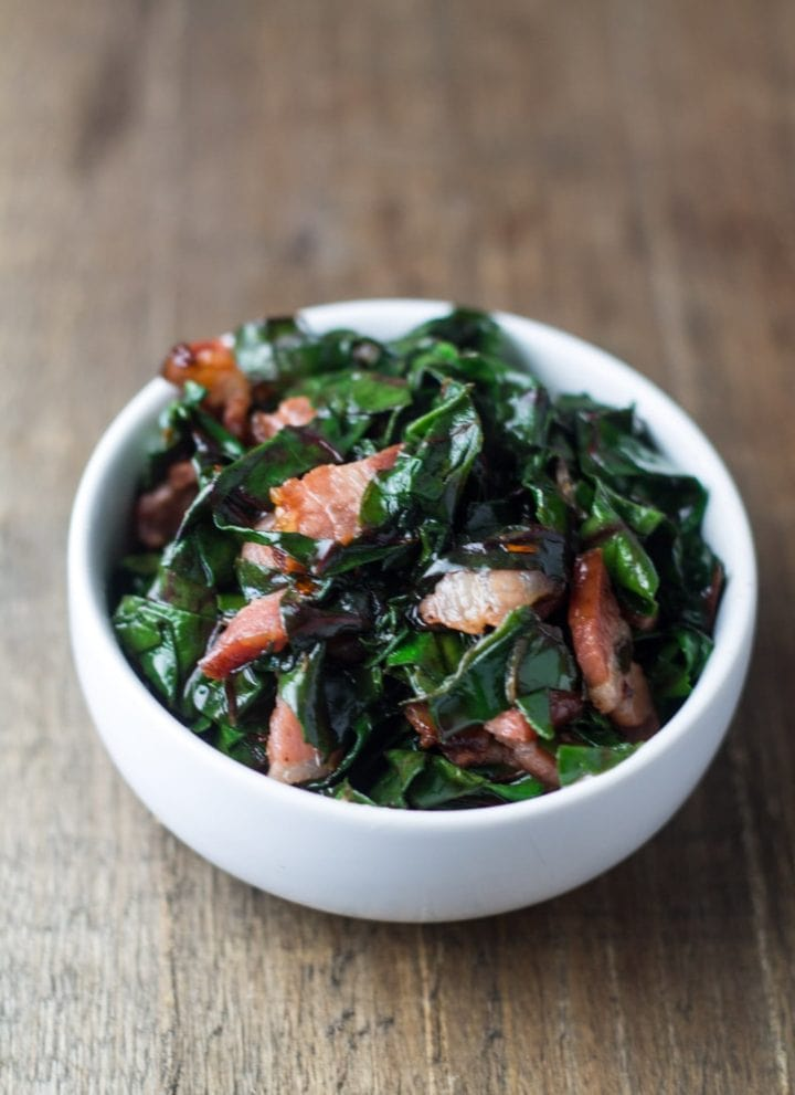 Low FODMAP Swiss Chard with Bacon