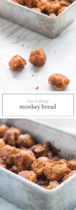 Two photos of low FODMAP monkey bread