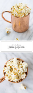 Two images of low FODMAP pizza popcorn