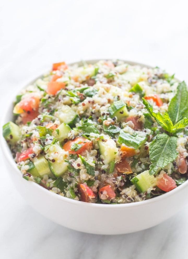Low FODMAP Quinoa Tabbouleh