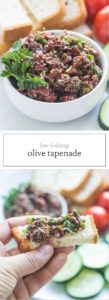 Two images of low FODMAP Olive Tapenade
