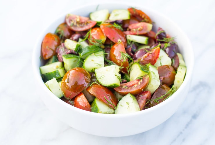 Low FODMAP Tomato Salad with Cucumbers