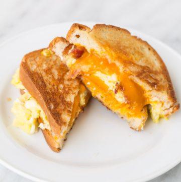 Low FODMAP Breakfast Grilled Cheese