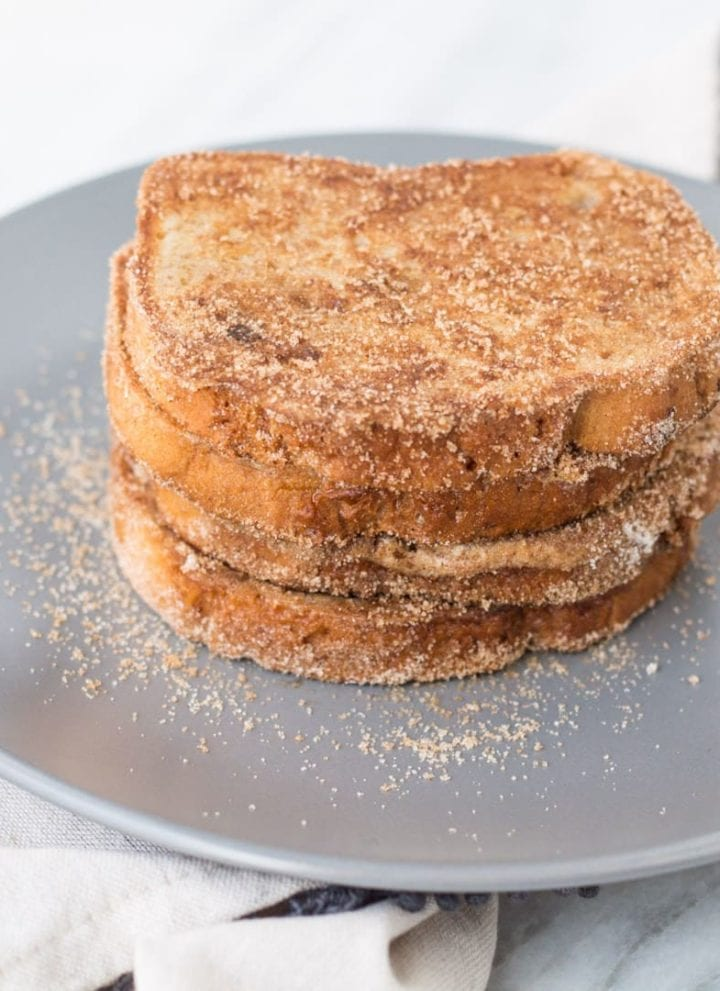 Stack of low FODMAP cinnamon french toast