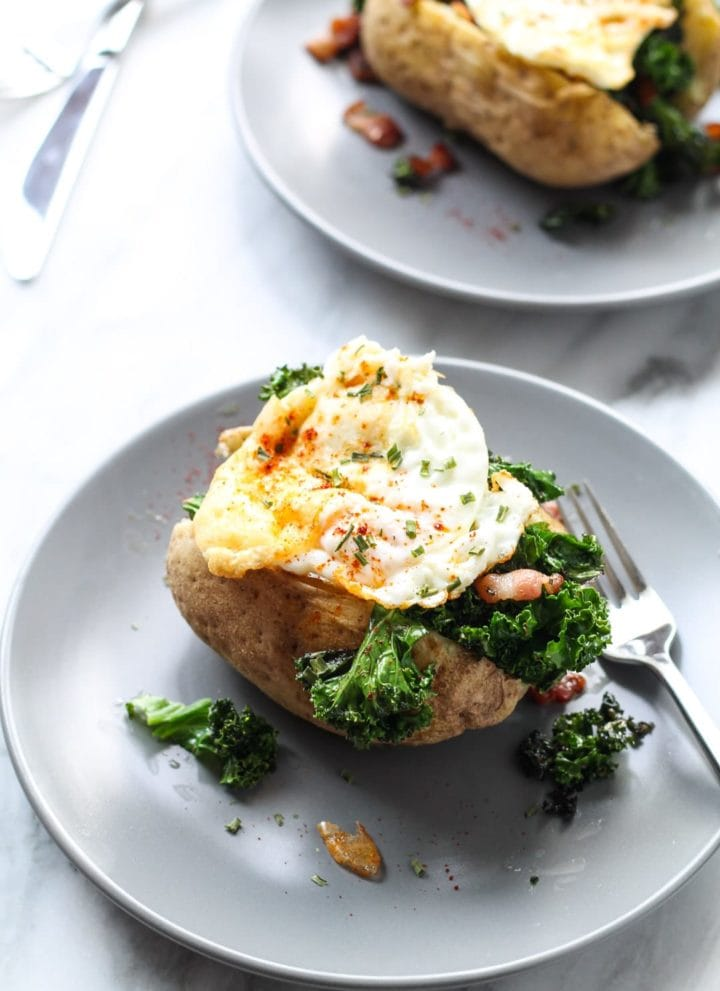 Low FODMAP Breakfast Stuffed Potatoes