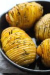 Low FODMAP Garlic Rosemary Hasselback Potatoes