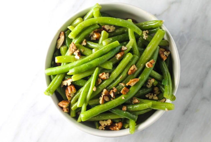 Low FODMAP Green Beans with Pecans