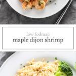 Low FODMAP Maple Dijon Shrimp