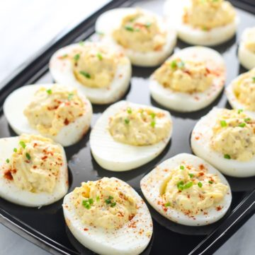 Low FODMAP Deviled Eggs