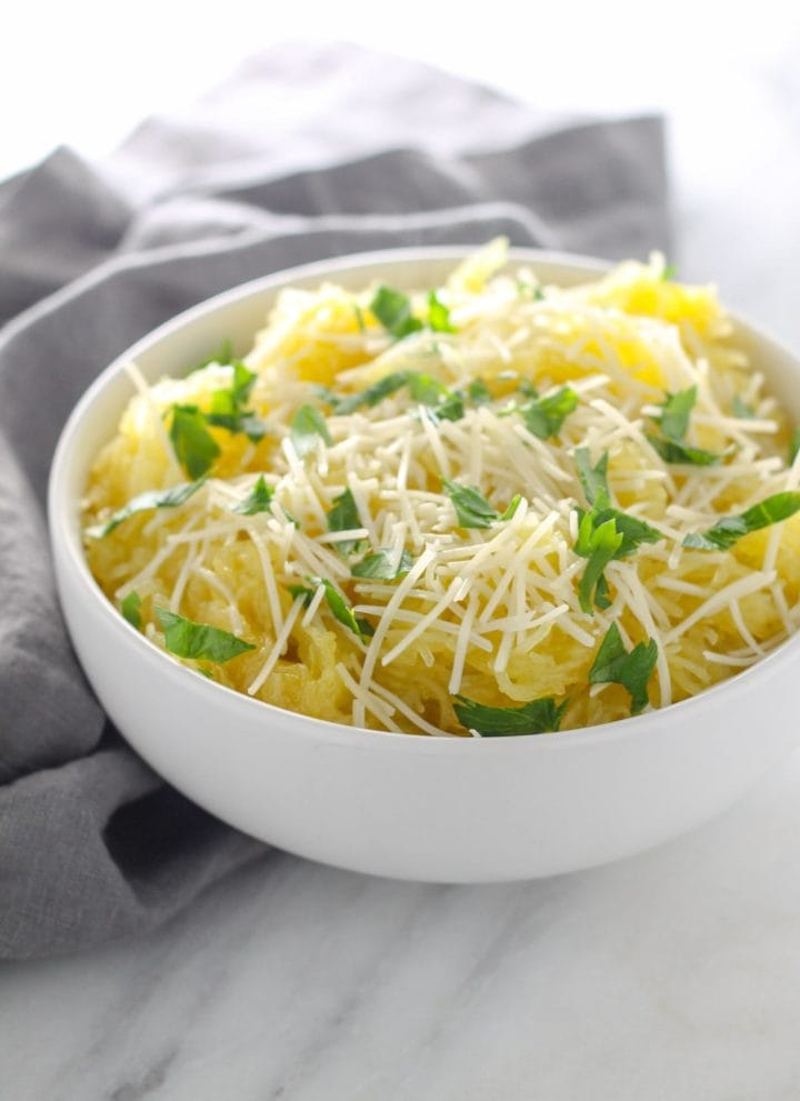 Low FODMAP Spaghetti Squash with Pecorino