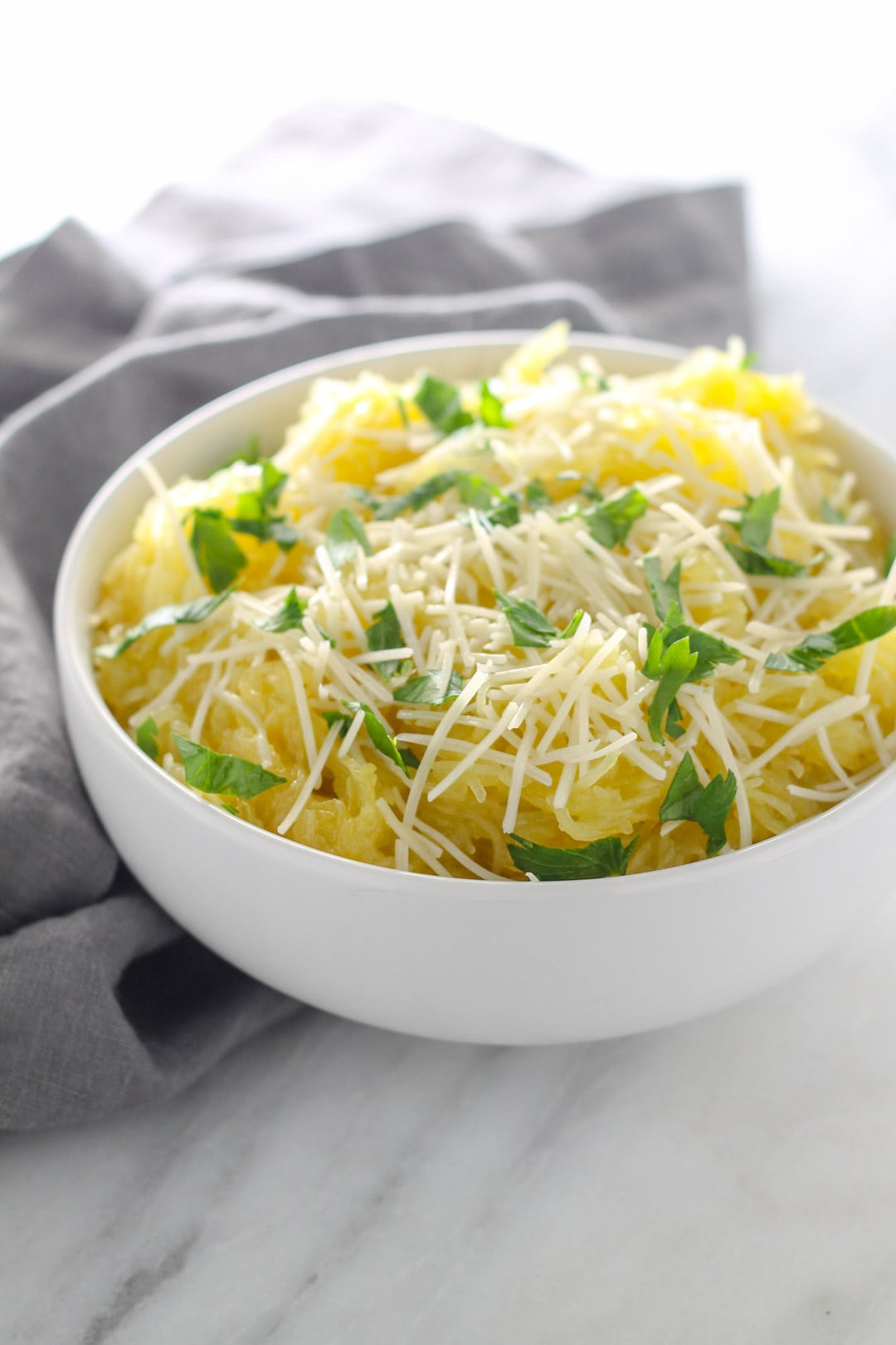 Low FODMAP Spaghetti Squash with Pecorino