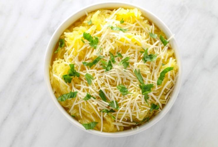 Low FODMAP Spaghetti Squash with Pecorino Romano