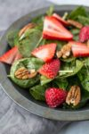 Low FODMAP Spinach Salad with Strawberries