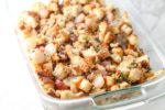 A dish of low FODMAP Stuffing with Grapes and Pecans