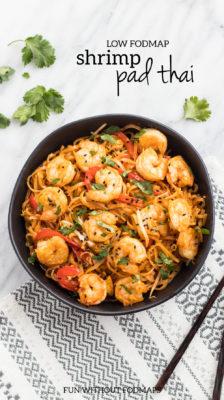Low FODMAP Shrimp Pad Thai