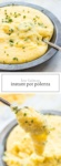 Two images of low FODMAP instant pot polenta