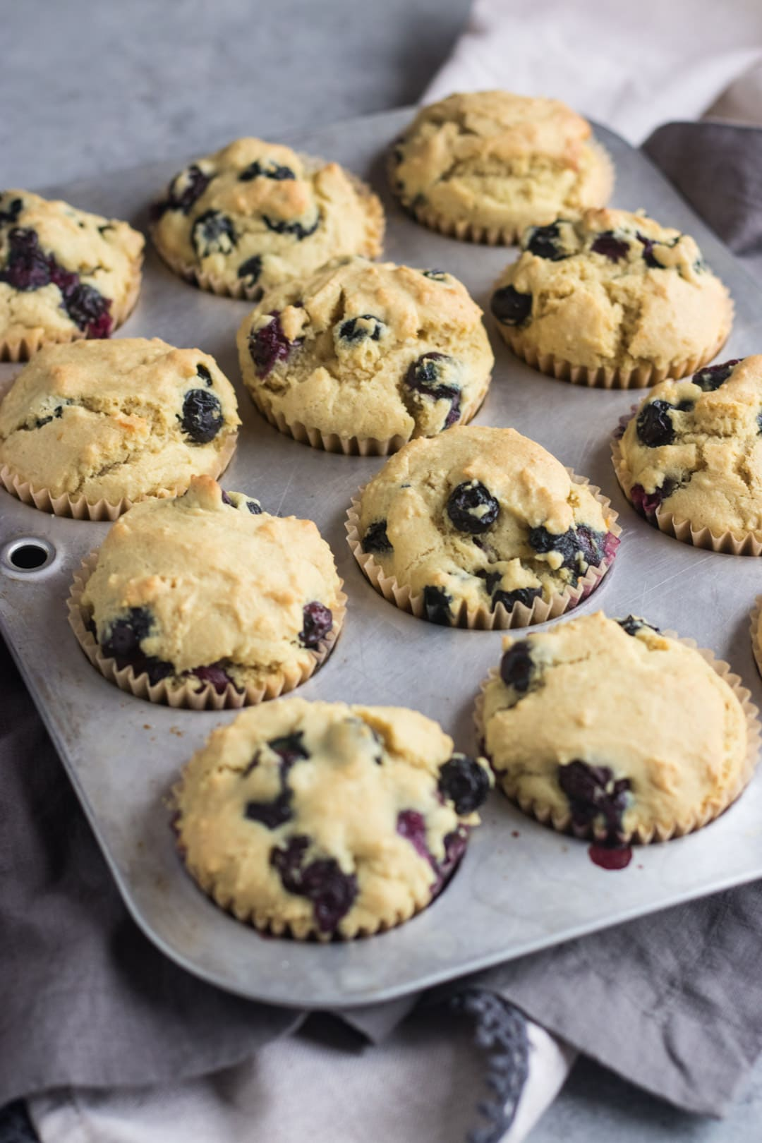 Low FODMAP Blueberry Muffins