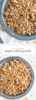 Low FODMAP Maple Walnut Granola