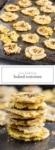 Two images of low FODMAP Baked Tostones