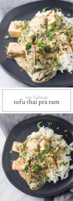 Low FODMAP Thai Pra Ram Tofu