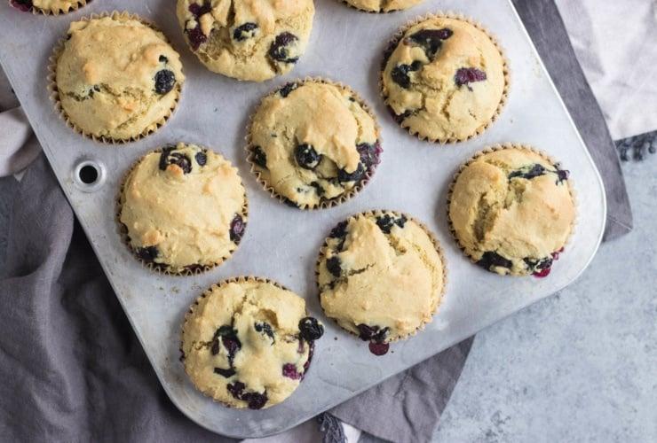 Low FODMAP Blueberry Muffins