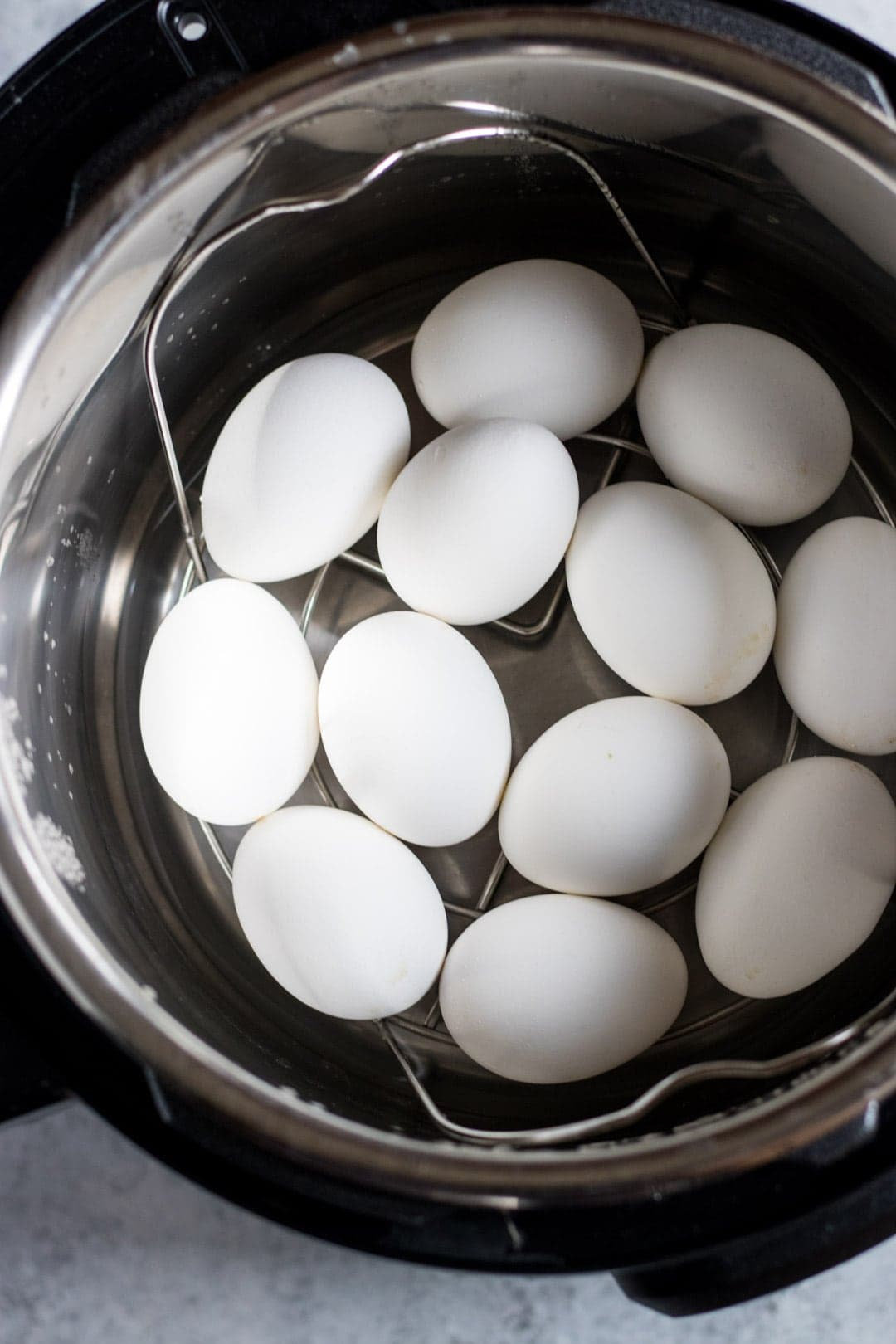 Pressure cooker filled with Instant Pot Hard-Boiled Eggs