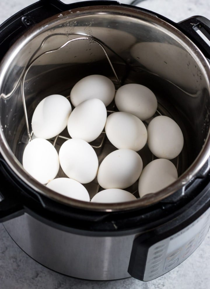 Instant Pot filled with eggs