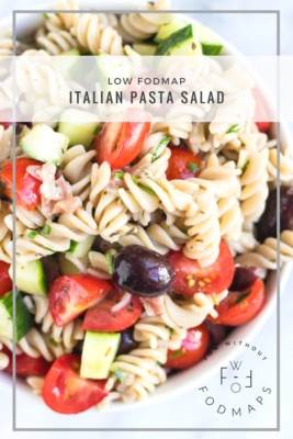 Bowl of Low FODMAP Italian Pasta Salad