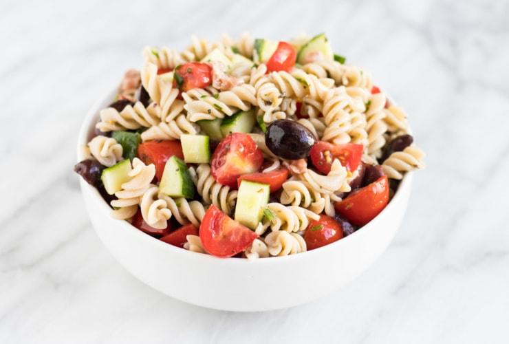 Bowl of Low FODMAP Italian Salad