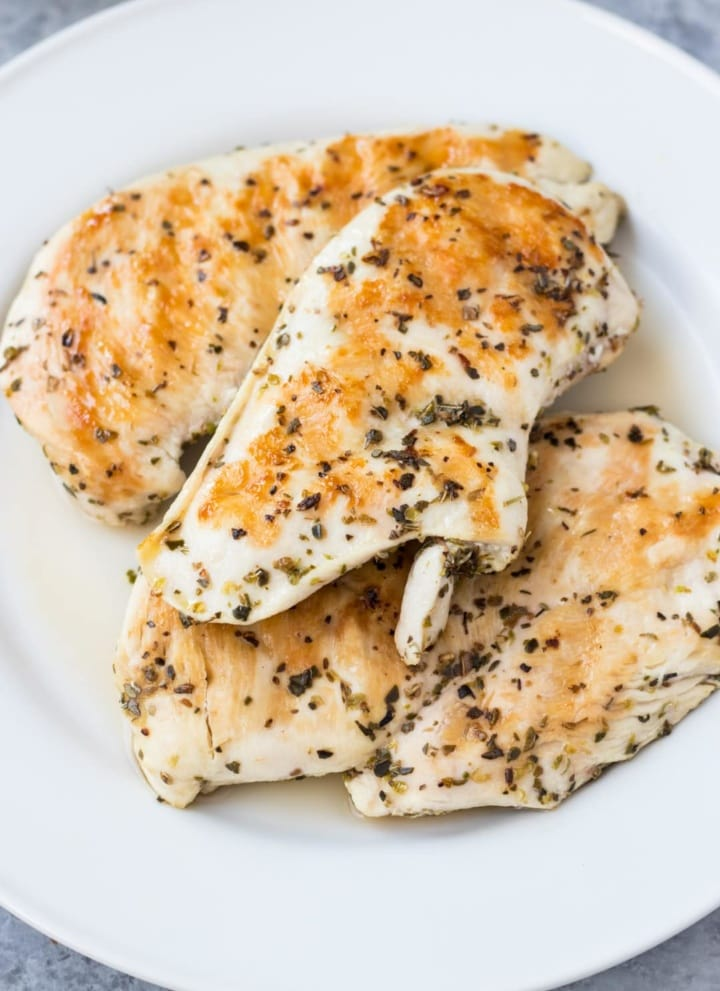 A plate of Low FODMAP Grilled Oregano Chicken
