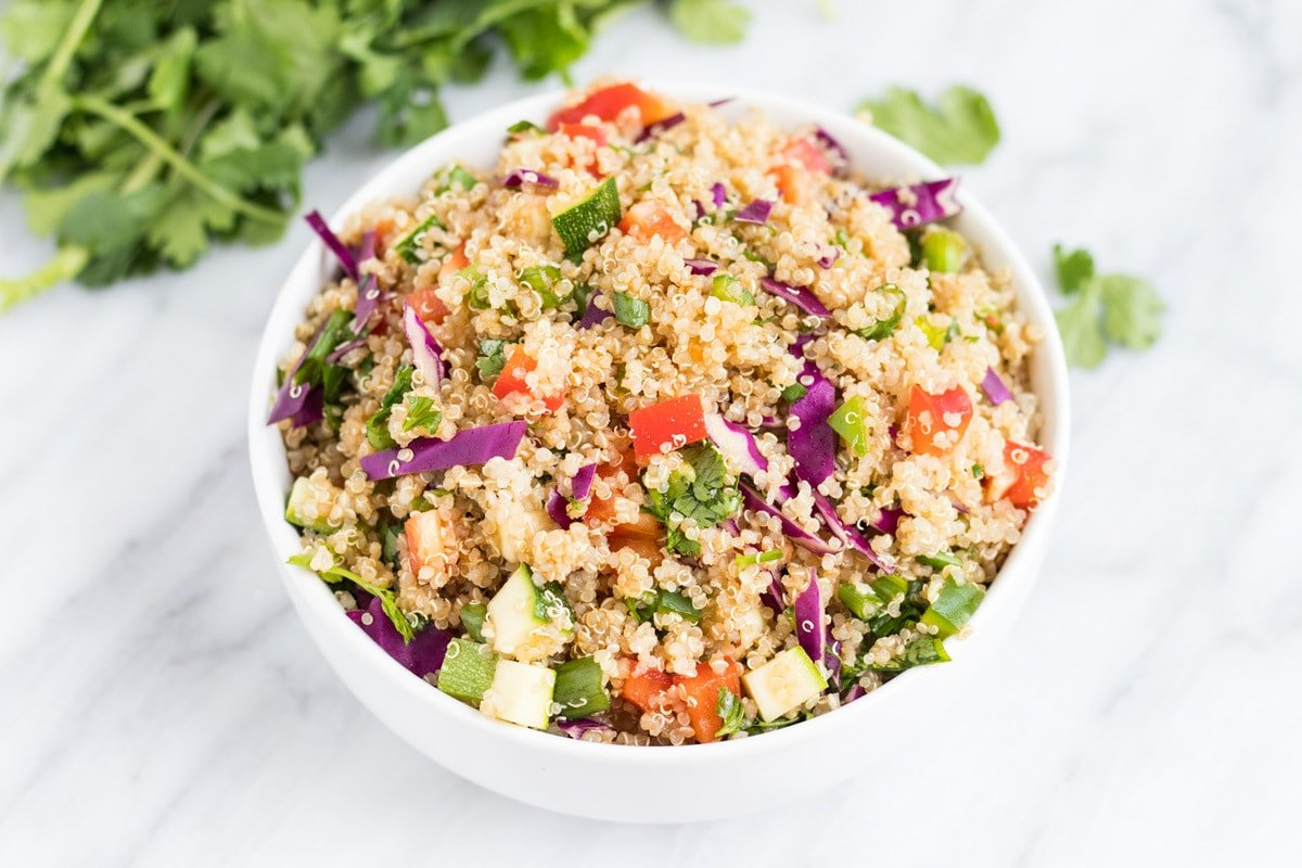 Low FODMAP Rainbow Quinoa Salad