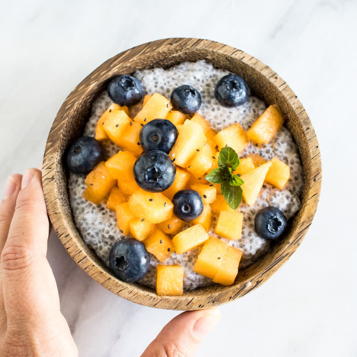 A bowl of chia pudding